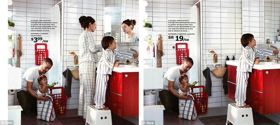 IKEA'nın Suudi Arabistan Kataloğunda Kadına Yer Yok !
