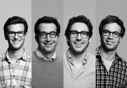 Warby Parker, the online eyeglass retailer, was thought up by a group of graduate students from the University of Pennsylvania. They've long since formed their idea into a solid online business and opened their first physical stores in 2013.