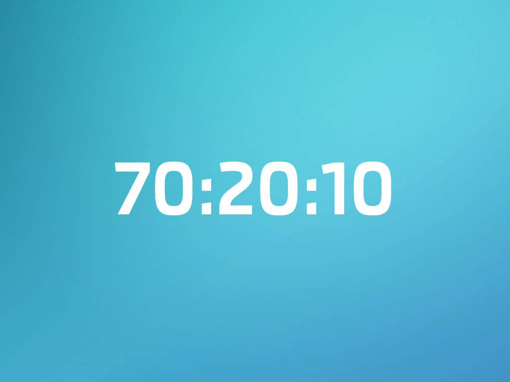 Rekabette Fark Yaratmak: 70:20:10 Kuralı