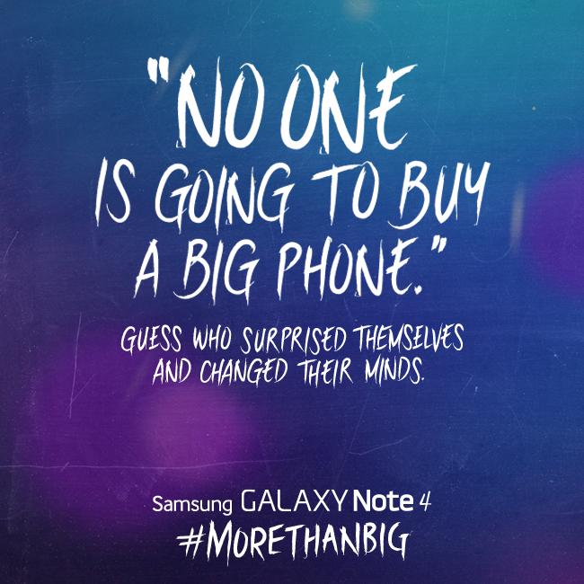 """Kimse Büyük telefon almaz"" - Samsung"