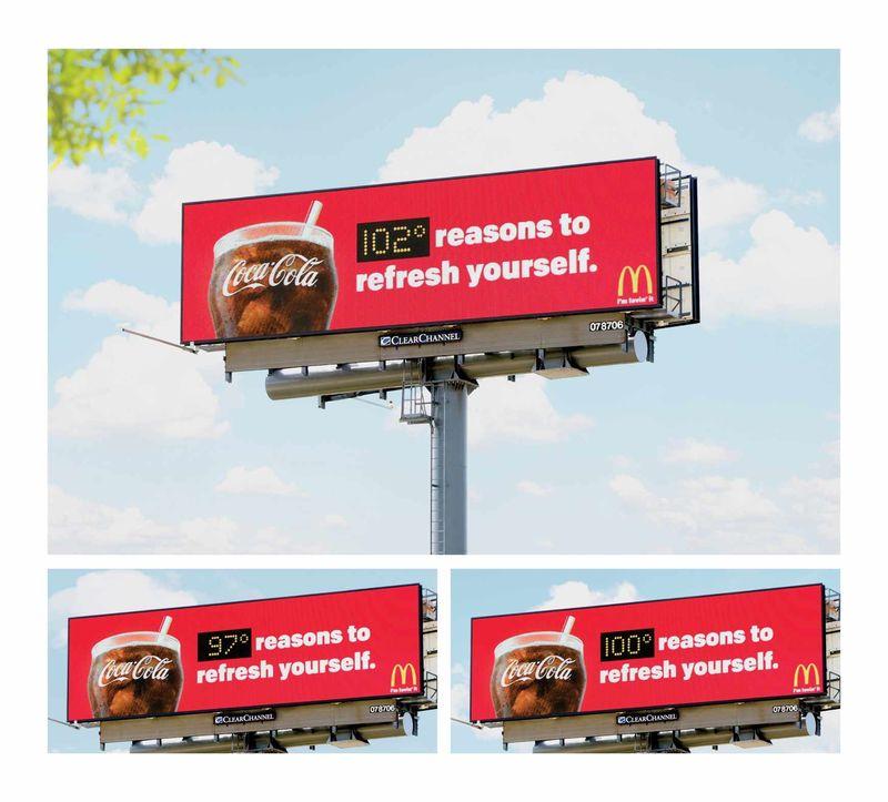 Coca Cola'dan Yaz Sıcaklarına Özel Billboard!