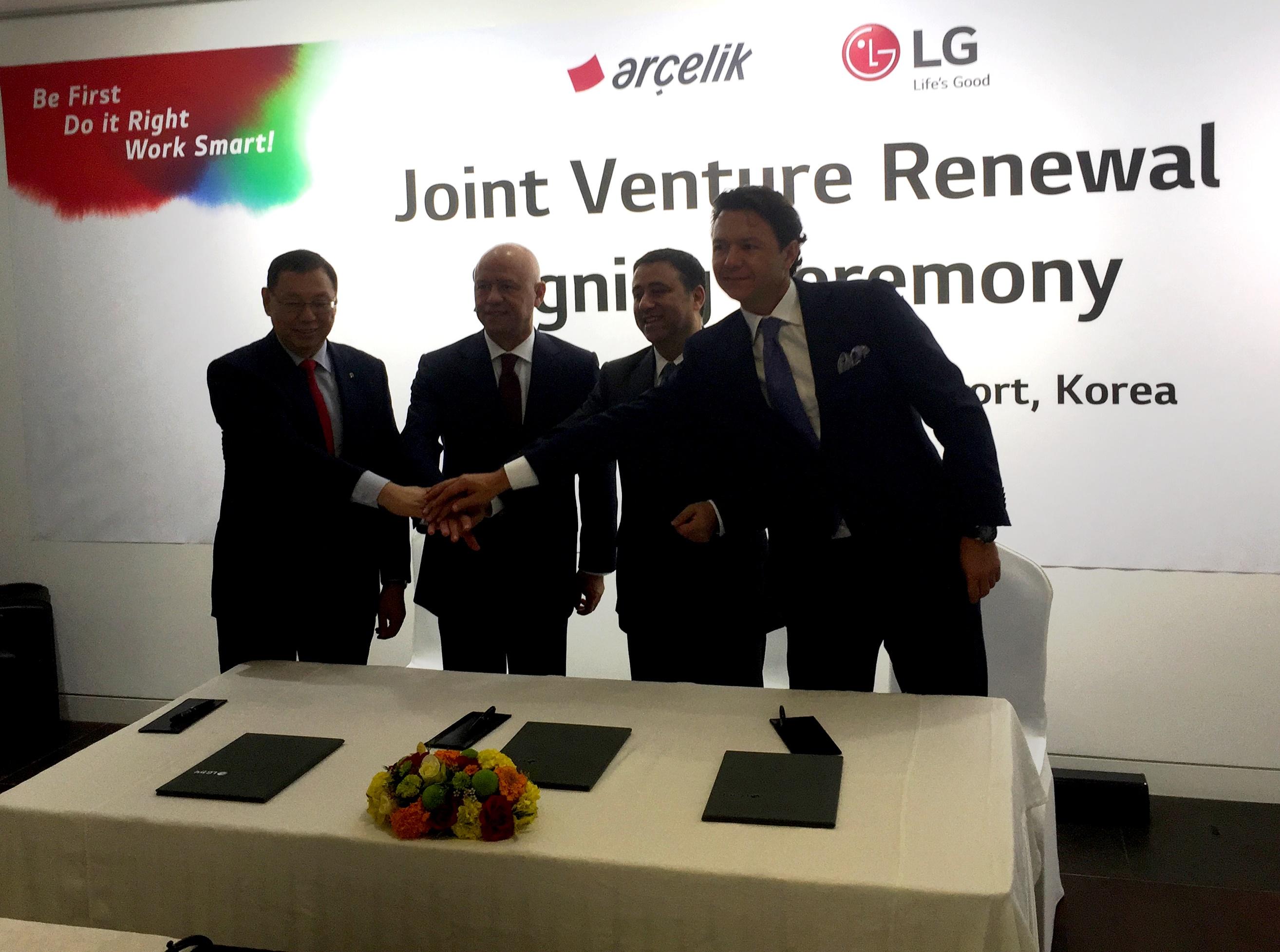 Arçelik, LG ile Ortaklık Anlaşmasını Uzattı