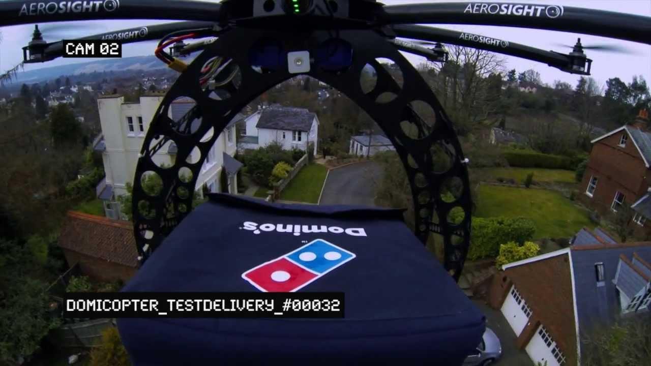 Domino's Pizza'dan Hızlı Teslimatta Drone Atılımı!