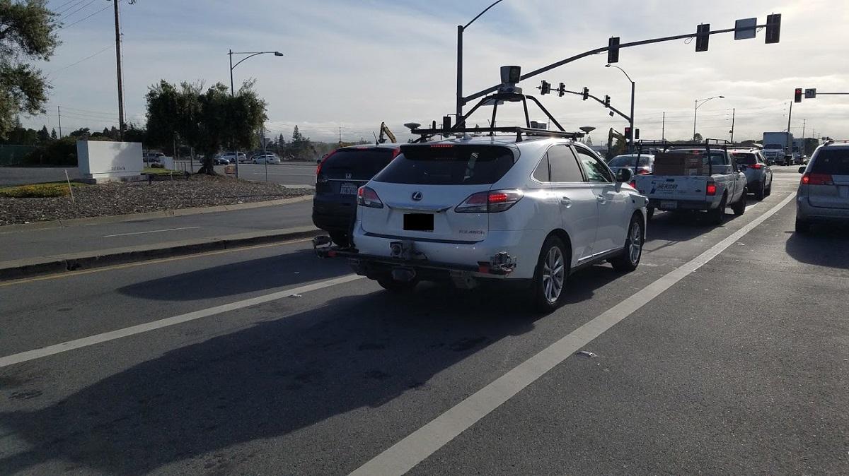Apple'ın Sürücüsüz Aracı İlk Kez Görüntülendi