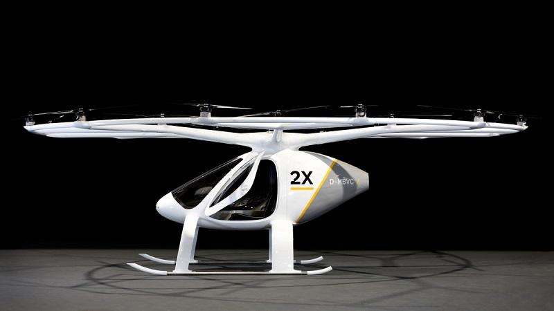 Dikey Olarak Kalkış ve İniş Yapabilen Hava Aracı Volocopter 2X, 2018'de Kullanılmaya Başlanacak