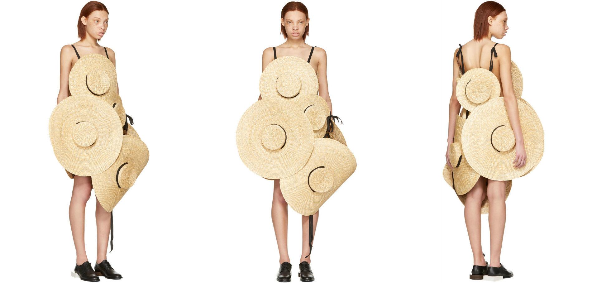 8 Adet Hasır Şapkadan Oluşan 3000 Dolarlık Elbise