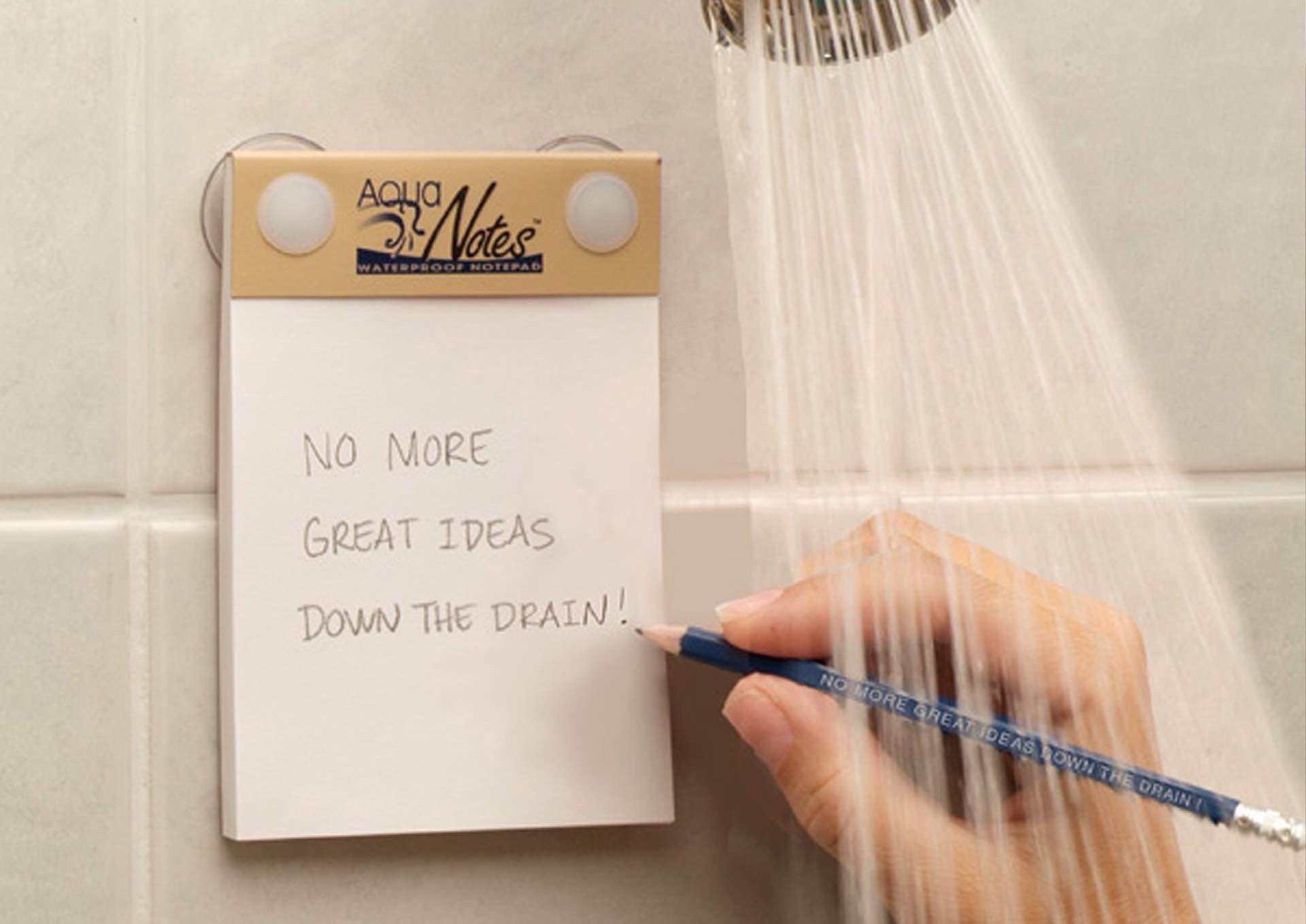 Duştayken Not Almak İsteyenler İçin Su Geçirmez Not Defteri