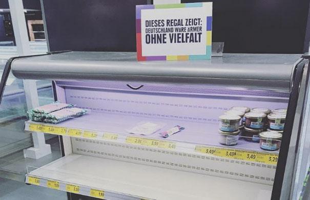 Alman Marketten Irkçılığa Karşı Yeni Raf Düzeni