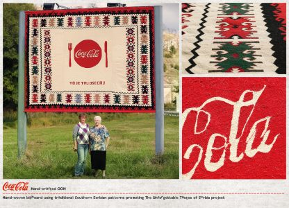 Coca-Cola'dan El Yapımı Kanaviçe Billboardlar