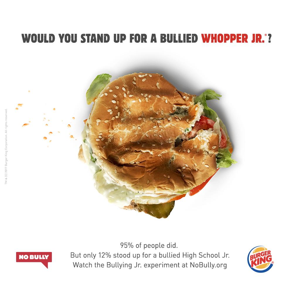"""Burger King, Şiddete Karşı """"Junior""""ların Yanında"""