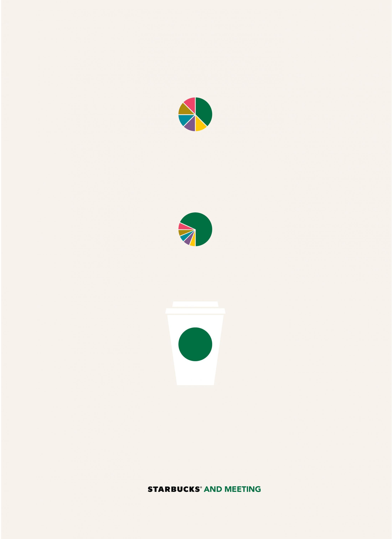 Starbucks'ın Hayatın Her Anında Olduğunu Anlatan Minimalist Posterler