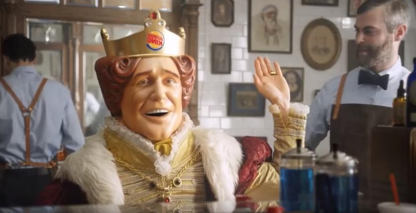 Burger King Maskotu Erkeklerin Sağlığına Dikkat Çekmek İçin Tıraş Oldu