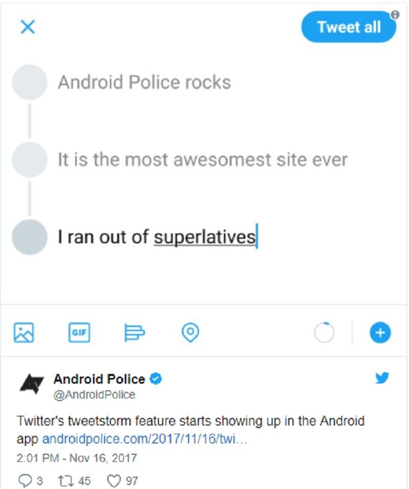 tweetstorming