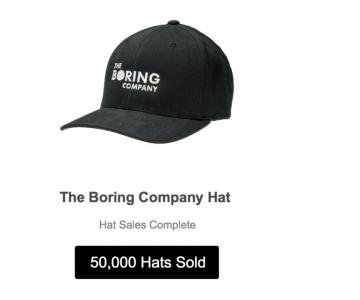 """Elon Musk'ın""""The Boring Company"""" Şapkaları Tükendi!"""