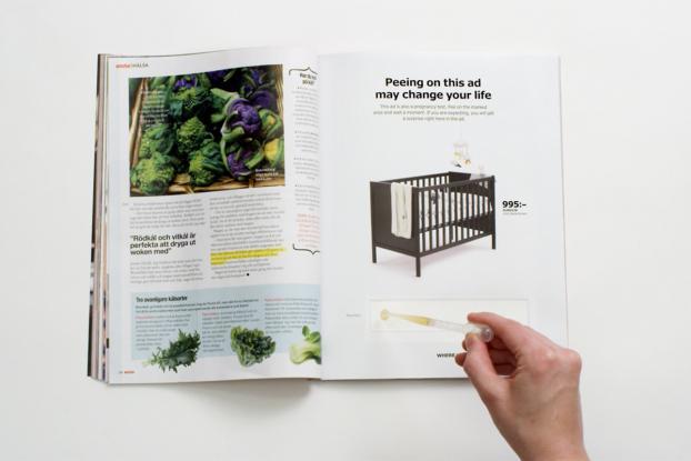 Ikea'nın Gebelik Testi Kullandığı İlginç Reklam Kampanyası