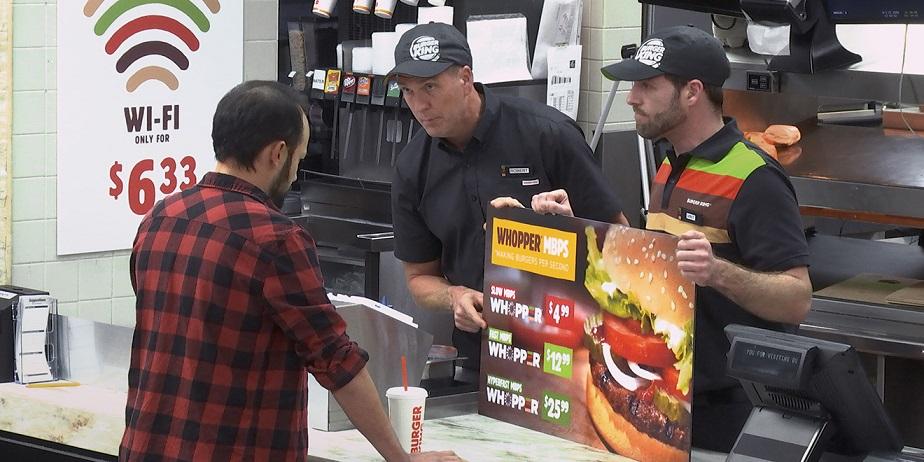 Burger King, Ağ Tarafsızlığını Anlatmak İçin Servis Hızını Yavaşlattı