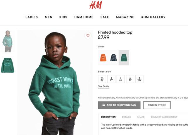 H&M Irkçılık ile Suçlanıyor!