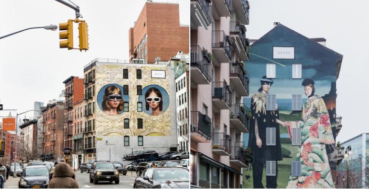 Gucci Halüsinasyonu New York ve Milan'da İki Duvarda Hayat Buldu