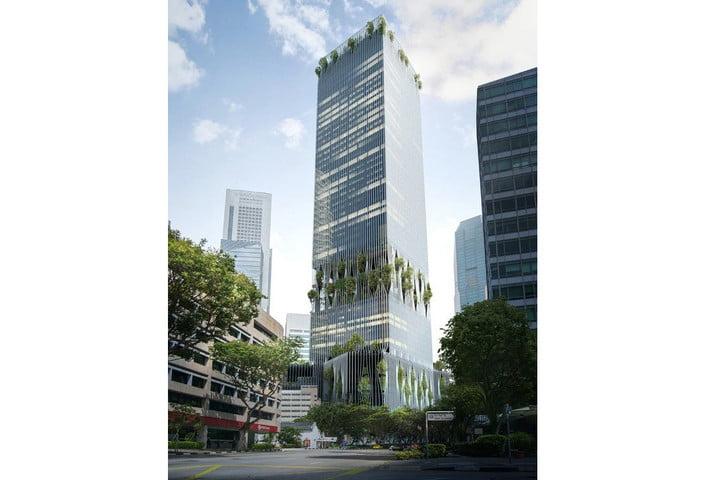 Singapur'daki Bu Gökdelenin İçinde Bir Yağmur Ormanı Saklı!