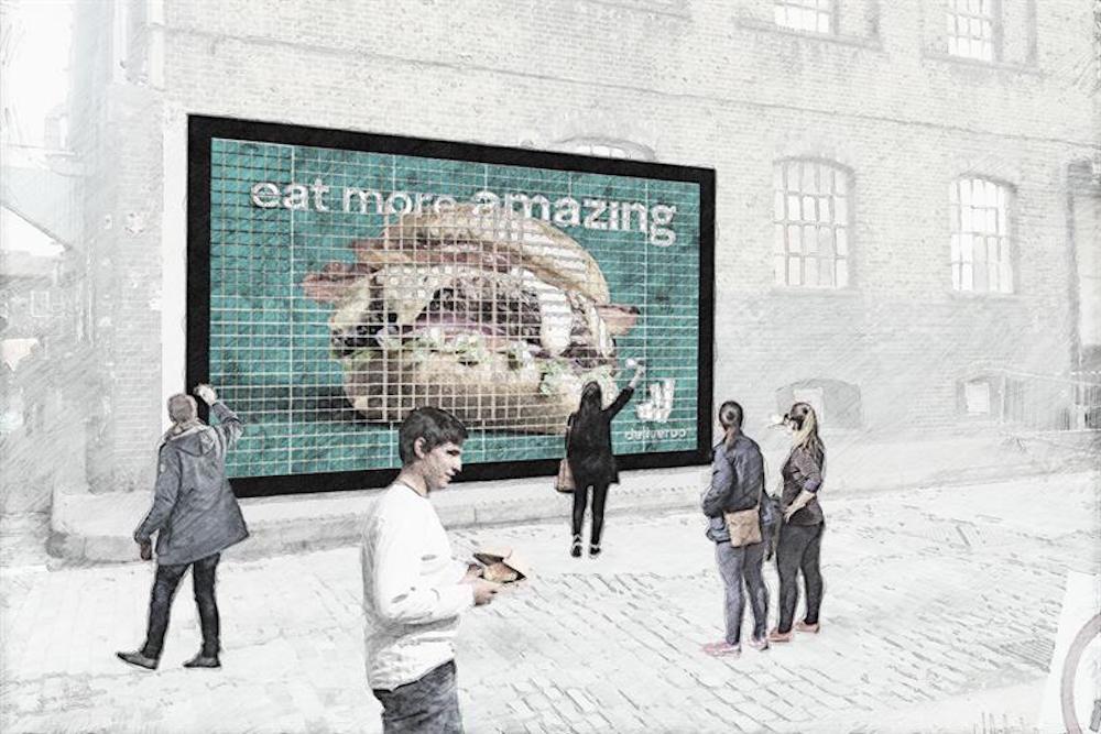 Deliveroo, Hamburgerlerden Oluşan Bir Reklam Panosu Yapacak