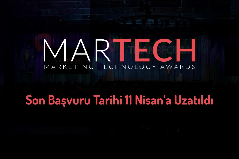 MarTech Awards Son Başvuru Tarihi 11 Nisan'a Uzatıldı!