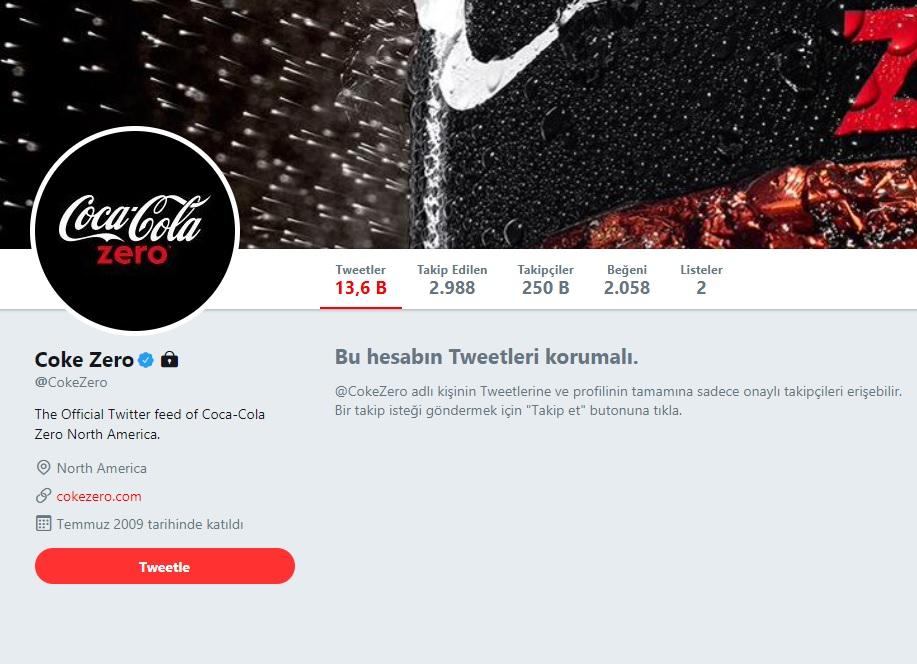 Coca-Cola Zero'nun Twitter Hesabıyla İlgili Paylaşılan Sahte Görüntü Viral Oldu