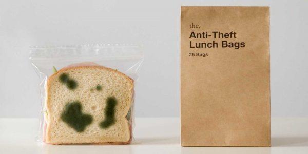 Yiyeceğinizi Küflü Gibi Göstererek Çalınmasını Önleyen Öğle Yemeği Poşeti