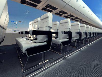 Dijital Ekrandan Manzara İzleyeceğiz: Penceresiz Uçaklar Geliyor