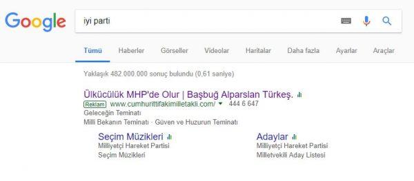 MHP ve İyi Parti'nin Google Reklam Savaşı Kızıştı: Yeni Hamle MHP'den