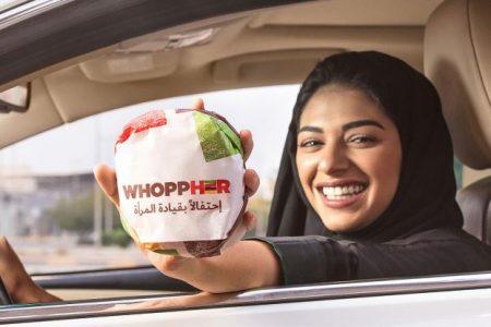 Burger King, Suudi Arabistan'daki Kadın Şoförlere Ücretsiz Hamburger Veriyor