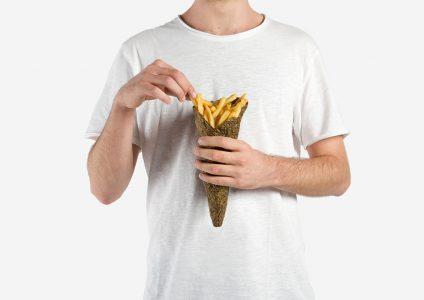 Patates Kızartmasına Patates Kabuğundan Yaratıcı Ambalaj Tasarımı
