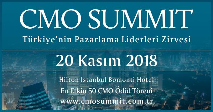 Türkiye'nin En Etkin Pazarlama Liderleri CMO Summit 2018'de Buluşuyor