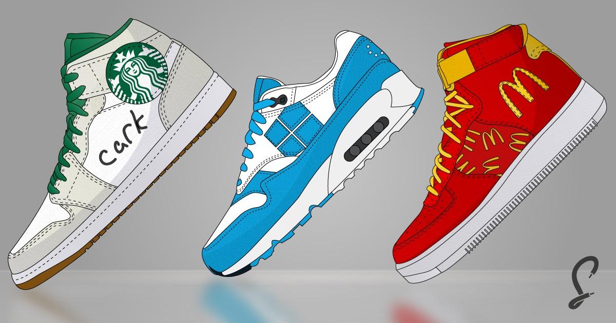 Dev Markaların Logolarını Taşıyan Spor Ayakkabı Tasarımları