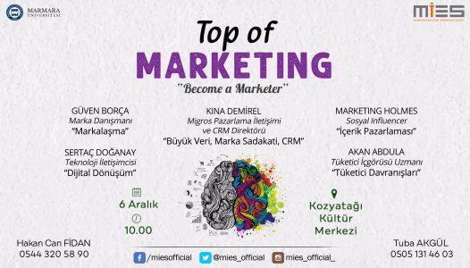 Pazarlama Dünyasının Zirveleri Top of Marketing'de
