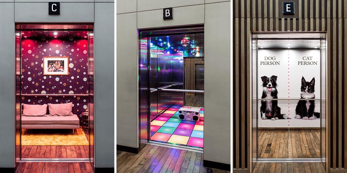 Asansörleri Sıkıcı Yerler Olmaktan Çıkaran Tasarımlar