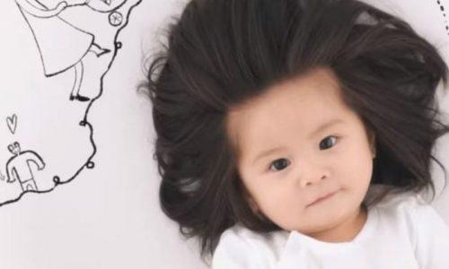 Bir Yaşındaki Fenomen Japon Bebek Pantene'in Reklam Yüzü Oldu