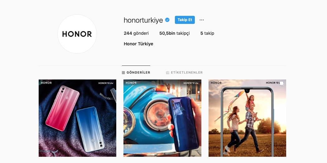 Honor Türkiye'den Instagram Hesabının Çalınmasıyla İlgili Açıklama Geldi