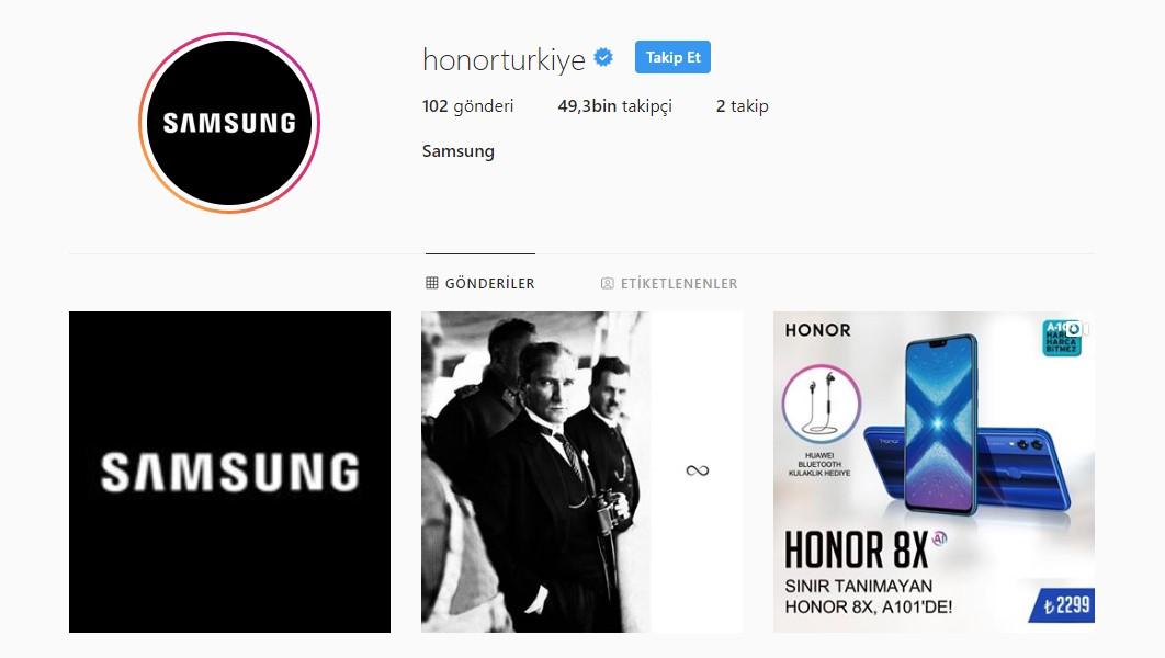 Honor Türkiye'nin Instagram Hesabı Hacklendi