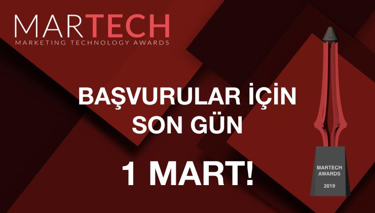 """Teknolojiyi Pazarlama ile Buluşturan """"MarTech Awards"""" Başvuruları İçin Son Gün 1 Mart"""