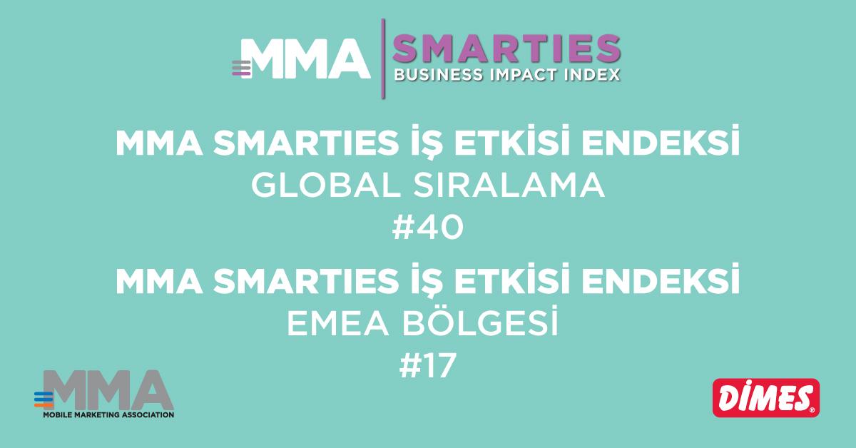 DİMES, MMA Smarties İş Etkisi Endeksi'nde Yer Alan Tek Türk Markası Oldu