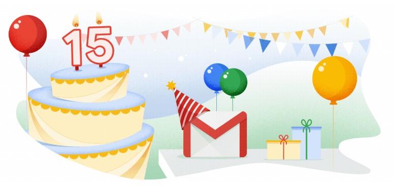 Gmail 15. Yaşına Yeni Özellikler Ekleyerek Giriyor