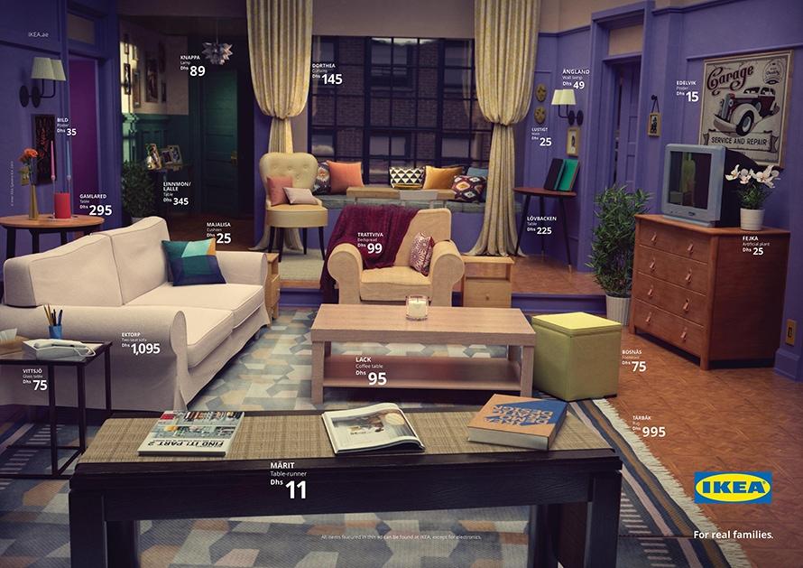 IKEA; Friends, Stranger Things ve Simpsons'un İkonik Oturma Odalarını Reklama Dönüştürdü