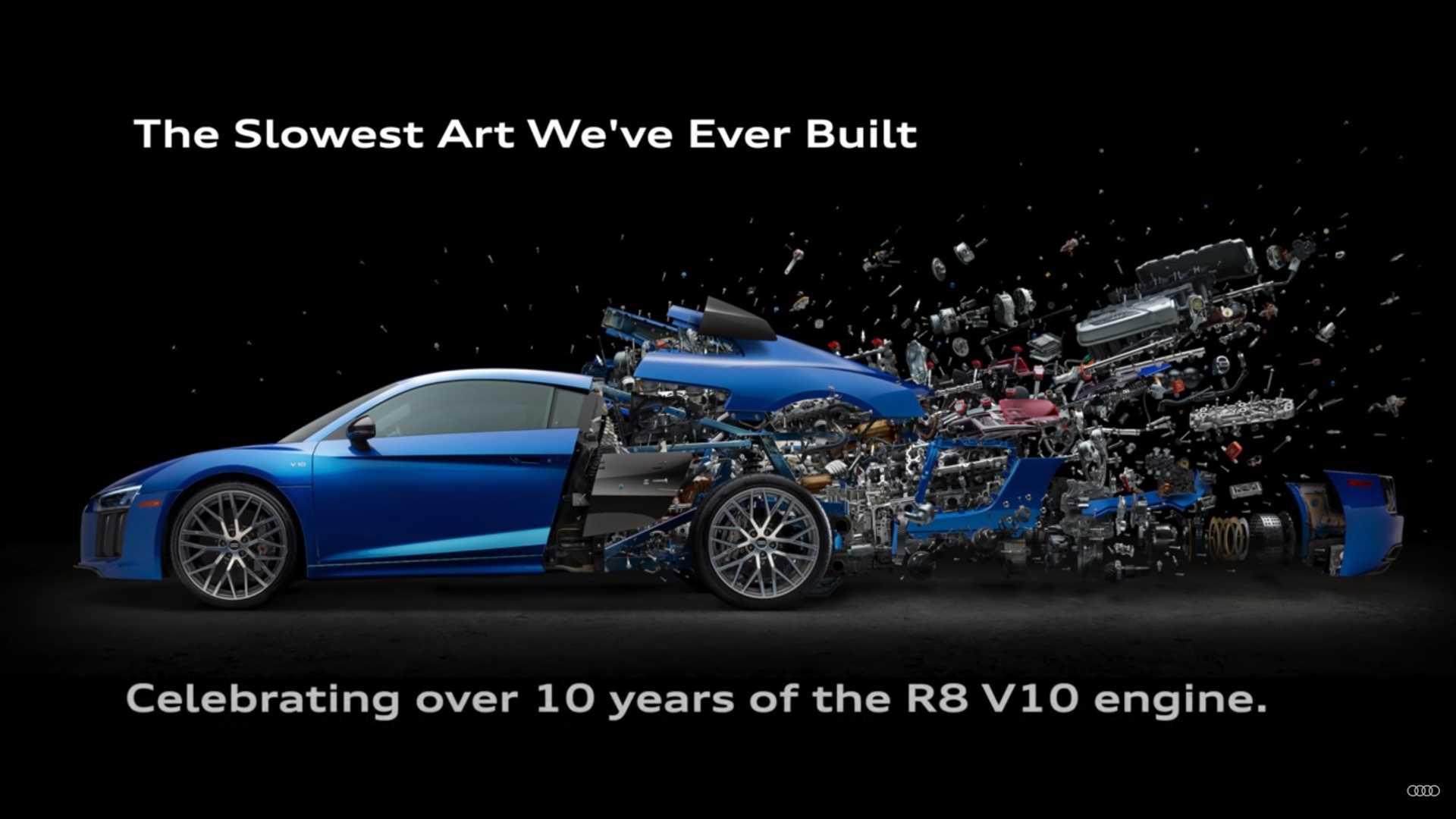 Audi R8 Parçalarının Sanat Eserine Dönüştüğü Poster