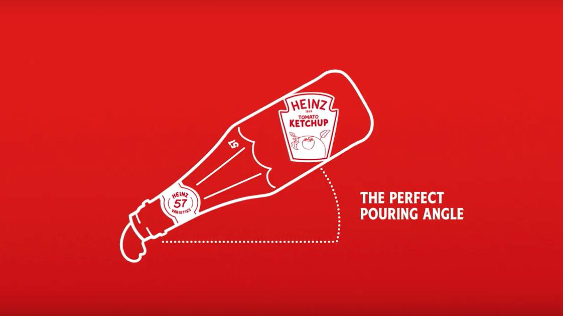 Heinz'ın Ketçabı Mükemmel Açıyla Dökmeniz İçin Tasarladığı Etiketler