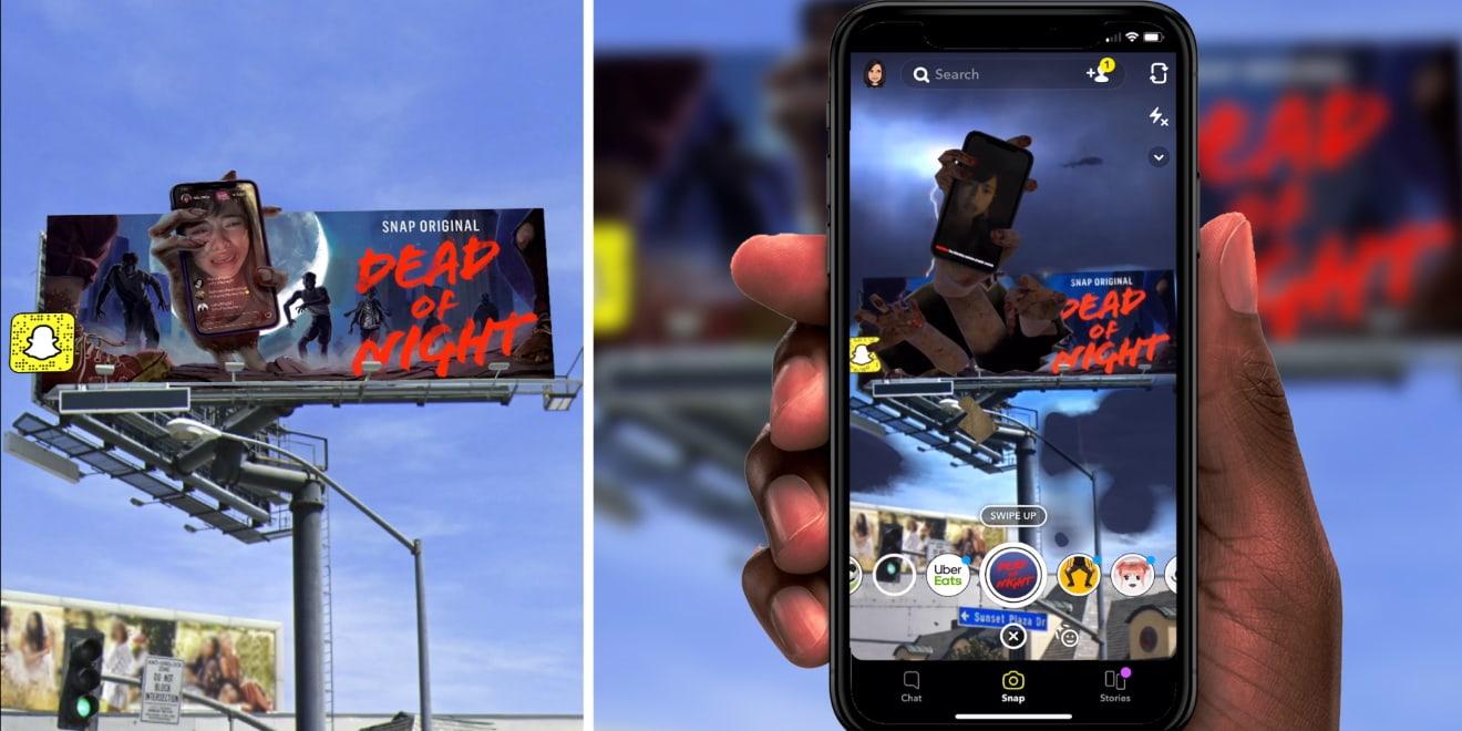 Snapchat, Şovlarının Tanıtımı İçin Artırılmış Gerçeklik Reklam Panolarını Kullandı