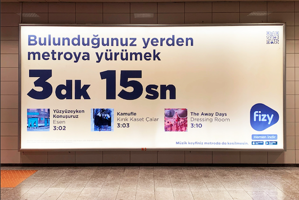 fizy, İstanbul'daki Duraklarda Yolculuk Sürenize Göre Şarkı Öneriyor!