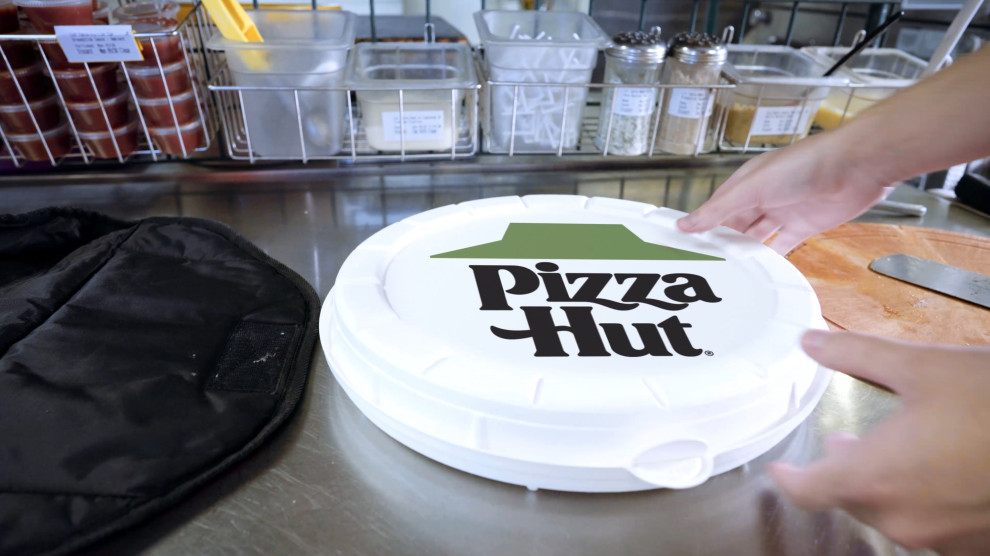 Pizza Hut Yarın Fütüristik, Yuvarlak Pizza Kutularını Test Edecek