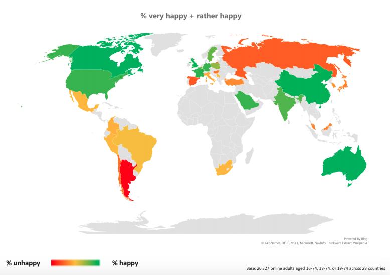 Global Mutluluk Araştırması'na Göre Giderek Mutsuzlaşıyoruz