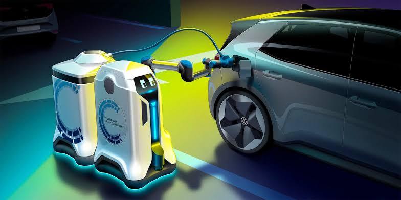 Volkswagen'den Elektrikli Araçlara Yönelik Hizmet Veren Robot