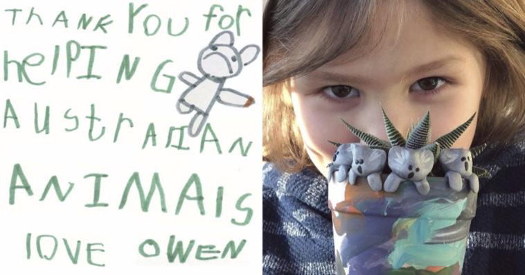 6 Yaşındaki Owen, Avustralya'daki Yangınlar İçin Üç Milyon Dolar Yardım Toplamayı Hedefliyor